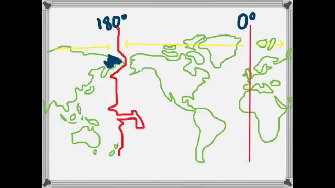 International Date Line On World Map.The International Date Line Youtube