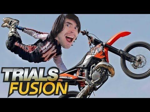 TRUCOS, CAIDAS Y BAILES SENSUALES | Trials Fusion