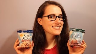 Vegan Ice Cream Taste Test (Soy Dream Butter Pecan & Rice Dream Cocoa Marble Fudge)
