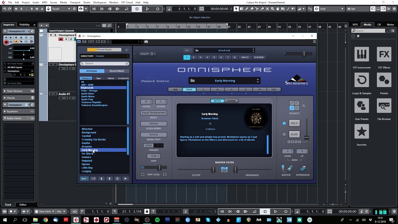 Triple Spiral Audio releases Dreamer for Omnisphere 2 5 + Keyscape