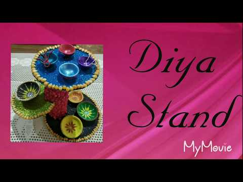 Diya Stand Decorated with Chhindwara's Corn,best of waste,Diya Stand, best from waste CD, home decor