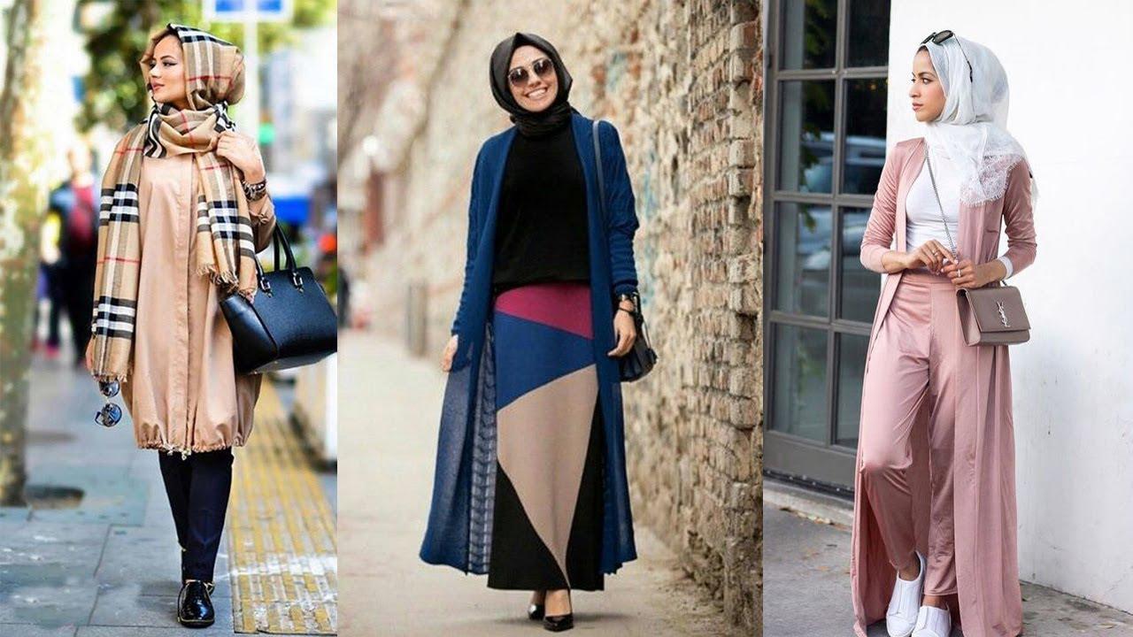 567a06a90 أجمل ملابس كاجوال للمحجبات 2019   موضة صيف - YouTube