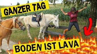 GANZEN TAG der Boden ist Lava ✮ das PFERD IST LAVA! Challenge mit meiner Schwester, Escada & Rubi