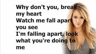 Hilary Duff - Break My Heart (Lyrics On Screen)