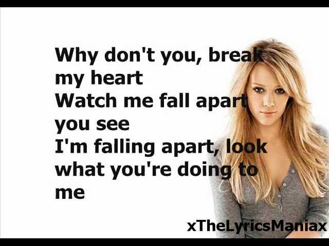 Hilary Duff – Break My Heart Lyrics | Genius Lyrics