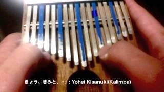 アフリカの民族楽器カリンバで、石原さとみ出演のサントリー鏡月のCM曲「きょう、きみと、…」(山田将司)を演奏しました。