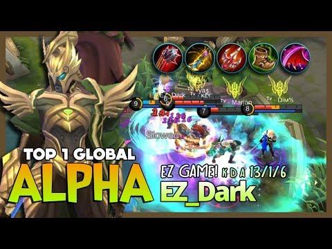 "Enemy Got Gusion & Lancelot? So What? EZ_Dark Top 1 Global Alpha ""Lifesteal is Real!"" ~ MLBB"