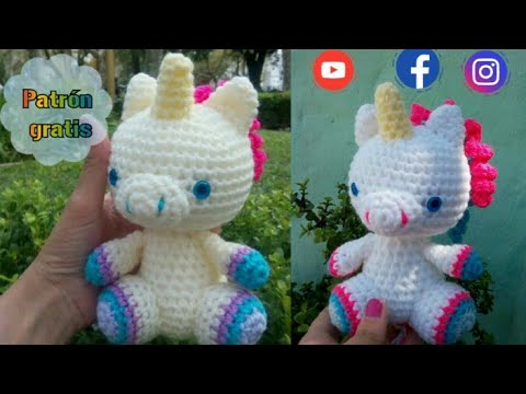 Baby unicorn amigurumi pattern - Amigurumi Today | 360x480