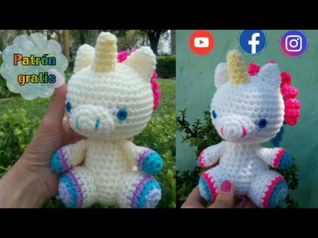 Unicornio bebe tutorial  crochet amigurumis baby U