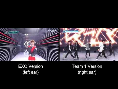 EXO - Call Me Baby (Produce 101 'Team 1' Cover Comparison)