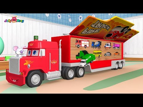 Learning Colors city Vehicle big size car carrier Fire truck