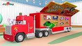 Cars 3 McQueen Mack Truck Hauler Transportation Color Police Cars 3 ...