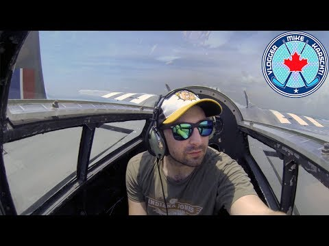 FLYING IN THE TAIL GUN OF A B-25 BOMBER! FLYFEST 2017! CANADIAN WARPLANE HERITAGE MUSEUM! NMV 121