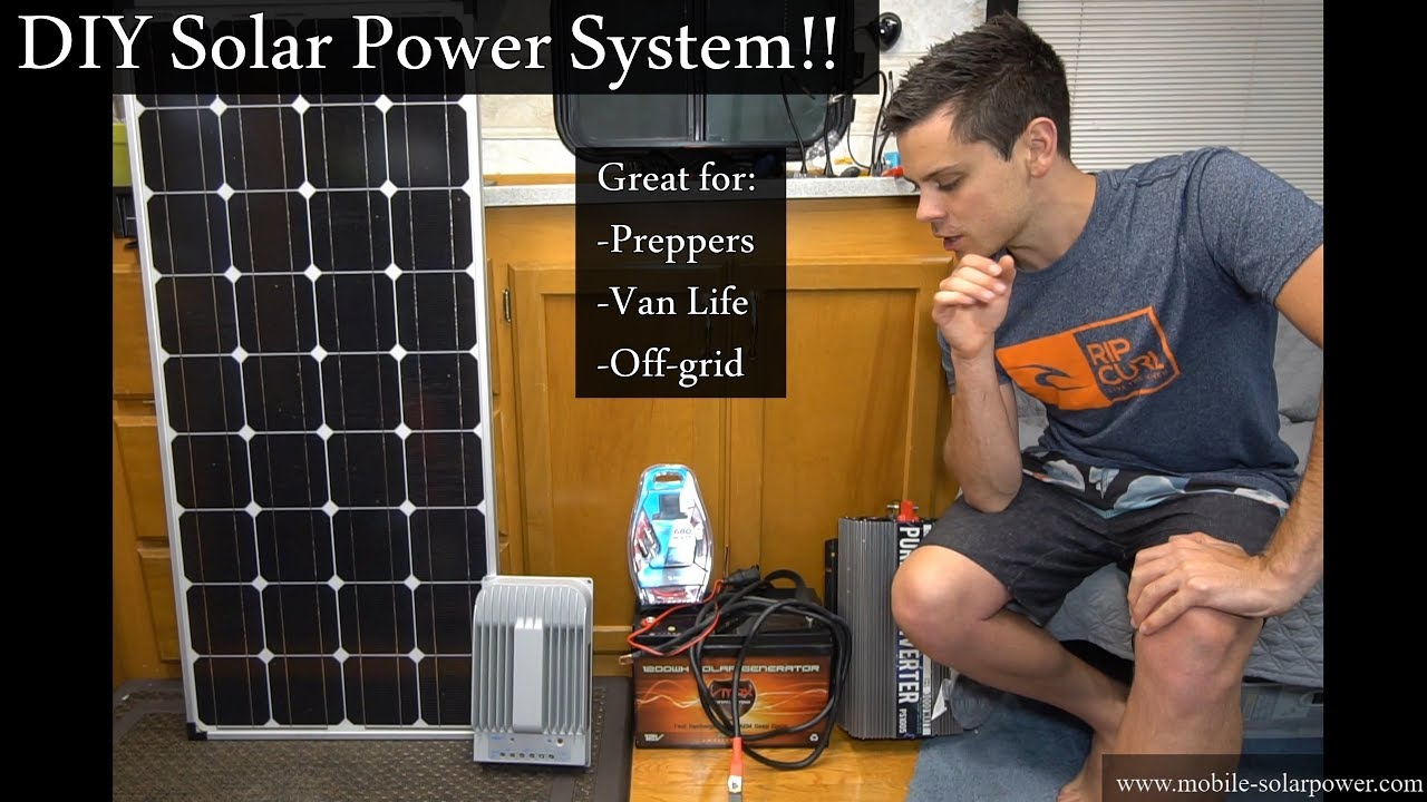 No Crimping Required! DIY 400 watt Solar Power System- Great for Preppers  or #Vanlife