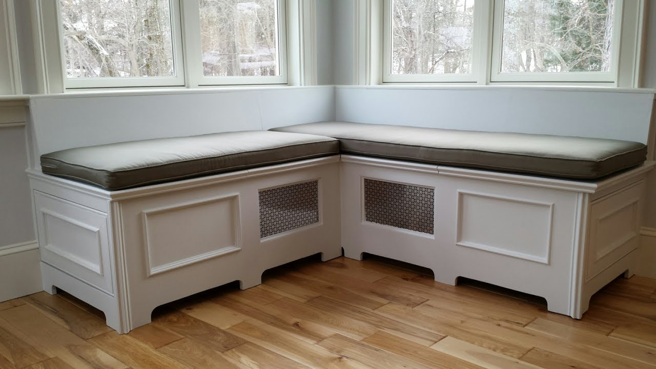 Wooden Storage Bench Seat Indoors UK - YouTube
