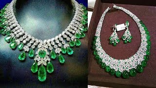 Gorgeous Emerald Diamond Necklace Design