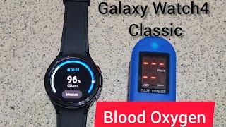 Samsung Galaxy Watch4 Classic blood oxygen sensor