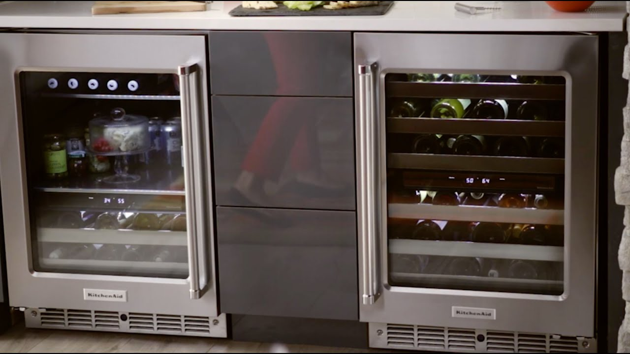 kitchenaid wine cellar and beverage center youtube rh youtube com
