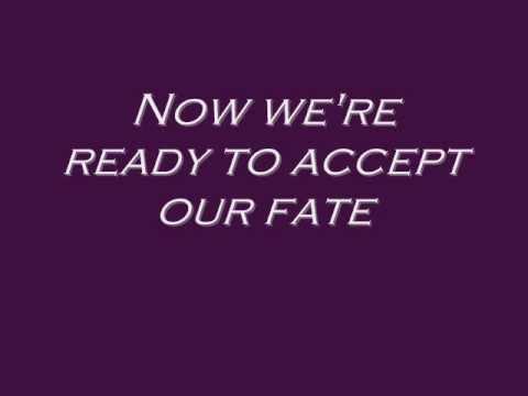Epica-Our Destiny lyrics on the screen