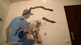 3D Drawing on wall