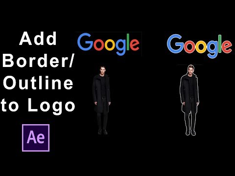 After Effects Tutorial | Adding Border or Outline to Image or Logo