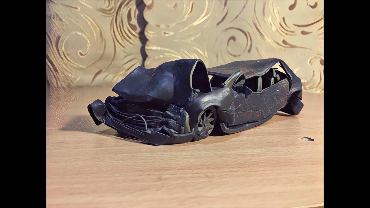 Краш тест машины из пластилина, BeamNg Drive Crash test #2