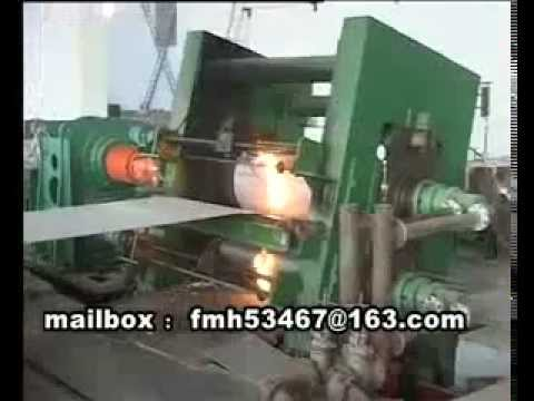 live video of aluminium casting rolling mill