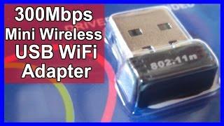 300Mbps Mini Wireless USB Mini Wifi Adapter Review