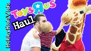 Toys R Us TOY Haul! Meet Giraffe + Nerf Bow and Arrow Surprise Toys  Lego by HobbyKidsVids
