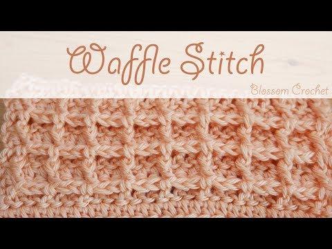 Super easy crochet: Waffle Stitch (blankets, wash/dish cloths)
