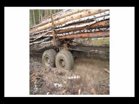 Сочлененный лесовозный тягач A25E с прицепом роспуском