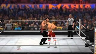 WWE2K14オンライン対戦動画。