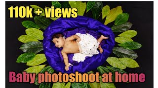 creative baby photoshoot at home|baby photography ideas|baby photography |monthly photoshoot at home