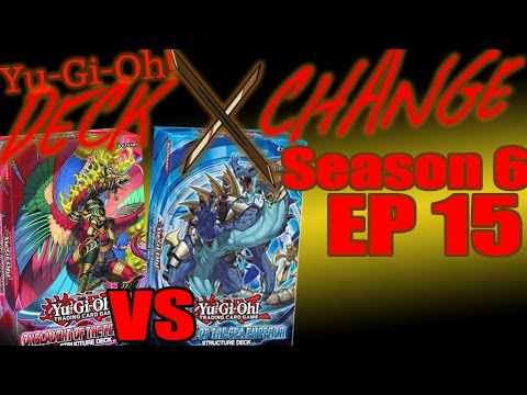 Onslaught of the Fire King Vs Realm of the Sea Emperor-YuGiOh Deck Exchange History-Season6Episode15