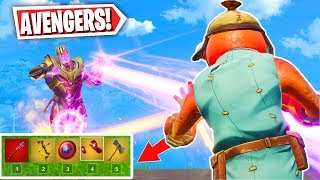 I got EVERY Avengers Weapon in 1 Game! (Fortnite Avengers End Game Gameplay)