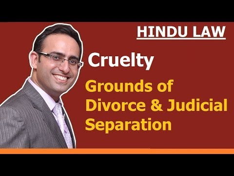 Grounds of Divorce and Judicial Separation (Video-3) Cruelty