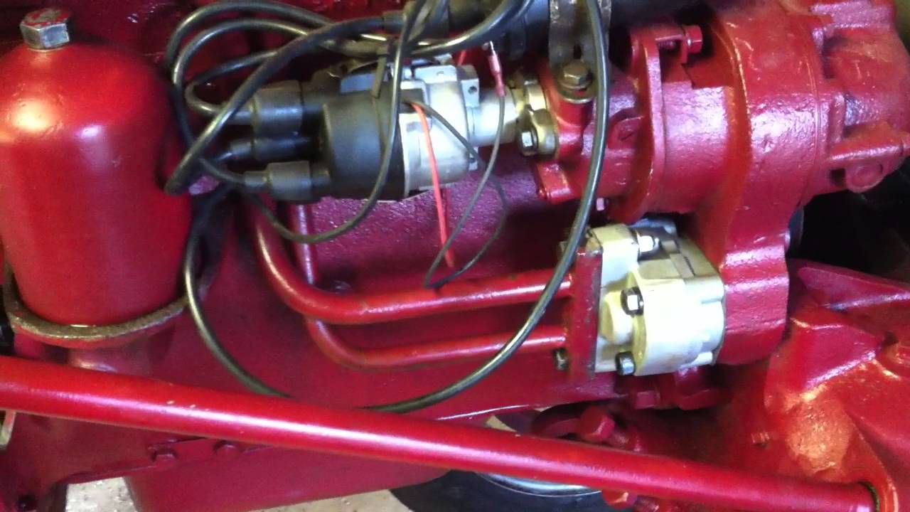 Farmall H Wiring Diagram For 6 Volt Farmall Super A Brand New Hydraulic Pump Youtube