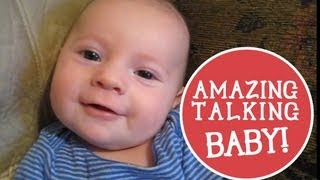 2 month old Baby Talking: Says I Love You!