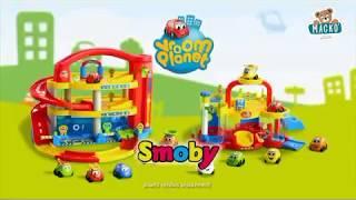 Gyerek kétemeletes garázs Vroom Planet Grand Smoby
