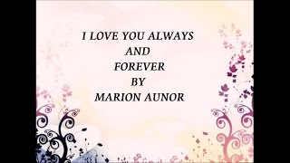 I love you always forever - Marion Aunor (audio)