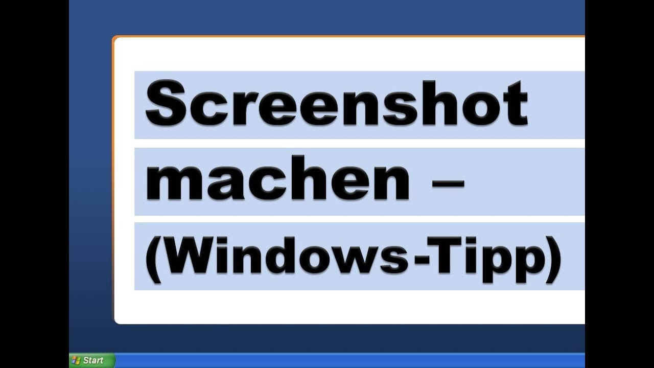 Screenshot Machen