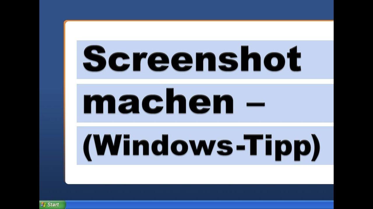 Screenshot Machen
