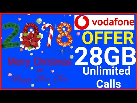 Vodafone Christmas Offer 28GB with Unlimited Calls   Telecom Industry DATA PRICE WAR