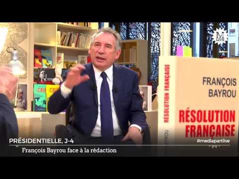 Entretien avec François Bayrou, allié d'Emmanuel Macron