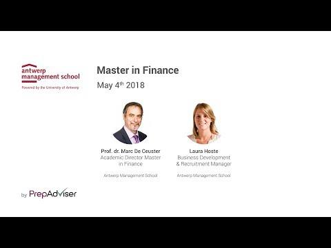 Antwerp Management School Master in Finance