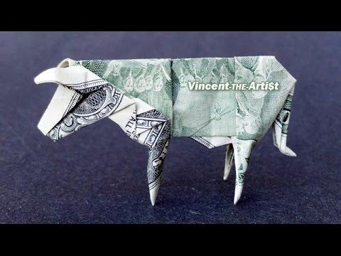 Money Origami COW