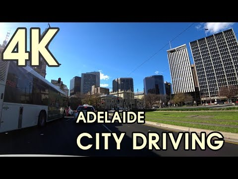 【4K UHD BEAUTIFUL ADELAIDE AUSTRALIA】Driving Adelaide City Centre