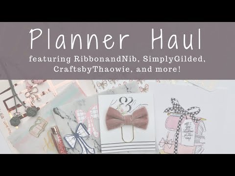 Planner Accessories and Sticker Haul!