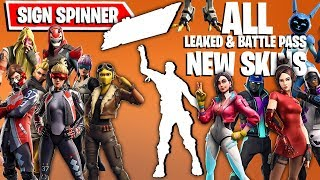 FORTNITE SIGN SPINNER EMOTE 1 HOUR with ALL NEW SKINS