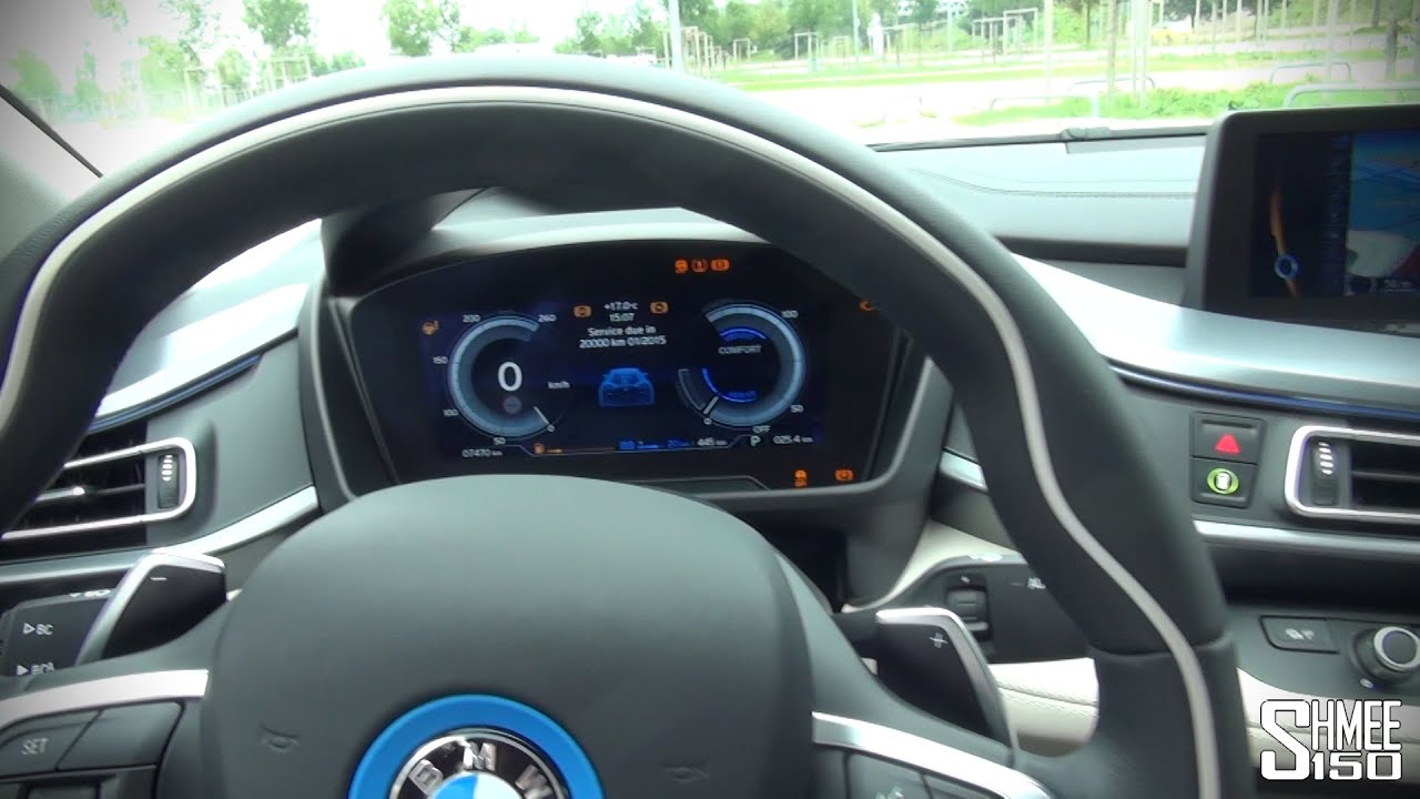 Bmw i8 interior and displays youtube for Bmw i8 interior